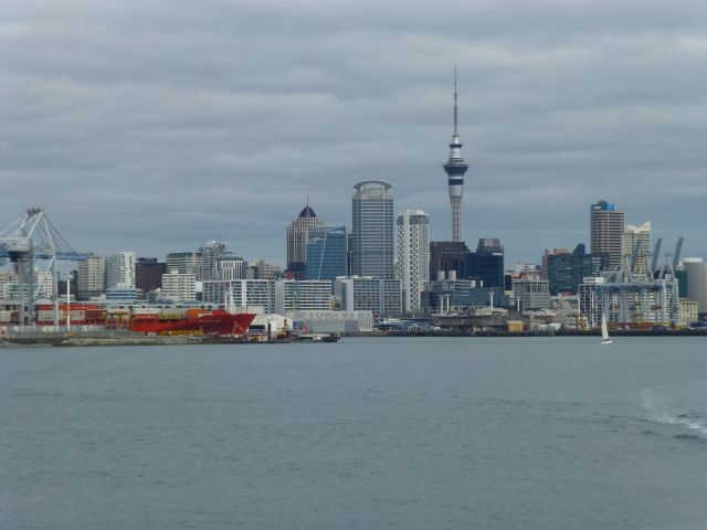 Few from water back to Sky Tower
